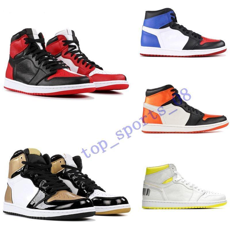 2020New mens basquete sapatos 1s top obsidian UNC Fareisless Phantom Turbo Verde 1 Backboard Phantom Gym Vermelho Sneaker Sneaker Tamanho 5.5-12