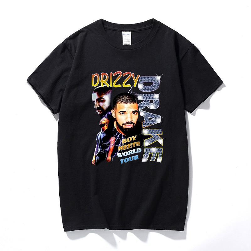 Drizzy Drake Boy Meets World Tour hommes t-shirt Nouveau été Hip hop shirt Camisetas Hombre Streetwear coton à manches courtes T-shirt T200517