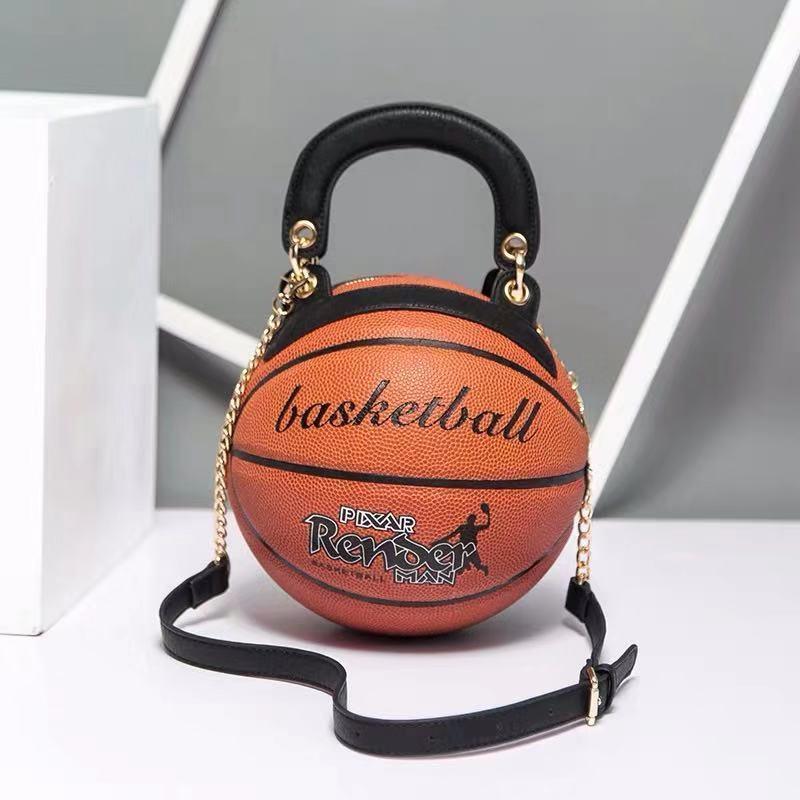 Kadınlar için bayan çantası Yuvarlak Basketbol Şekli Shouder Messenger Çanta 2020 Bayan El Çantaları Zincirler Casual cluth Çanta
