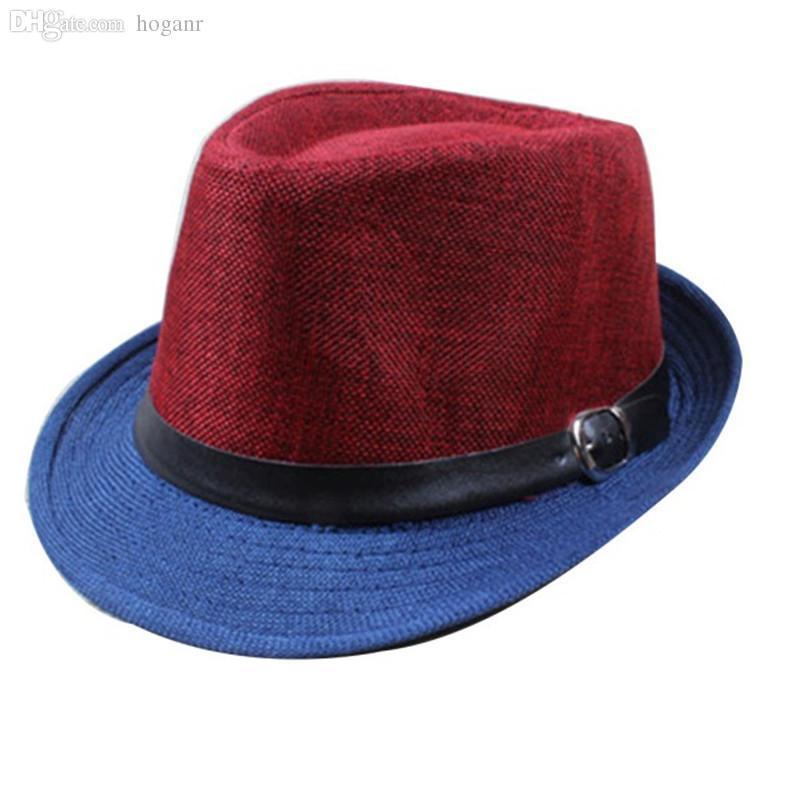 Toptan Satış - Toptan-2016 Marka Yaz Erkekler Serin Fedora Şapkalar Moda Geniş Ağız Şapka Erkek Gangster Kapaklar