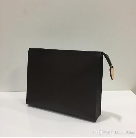 100% vera pelle maschile lungo borsa del portafoglio titolare Ottimizzata Card Case blocca frizione Borse cosmetici con polvere borsa 61692