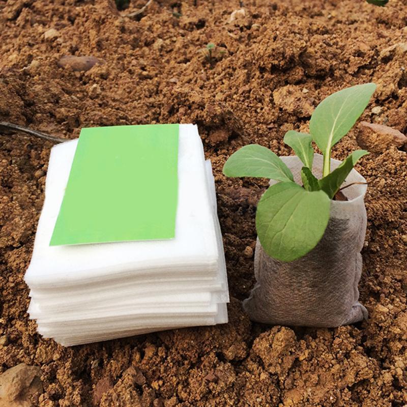 100pcs/lot Biodegradable Seed Nursery Bags Nursery Flower Pots Vegetable Transplant Breeding Pots Garden Planting Nursery Plant