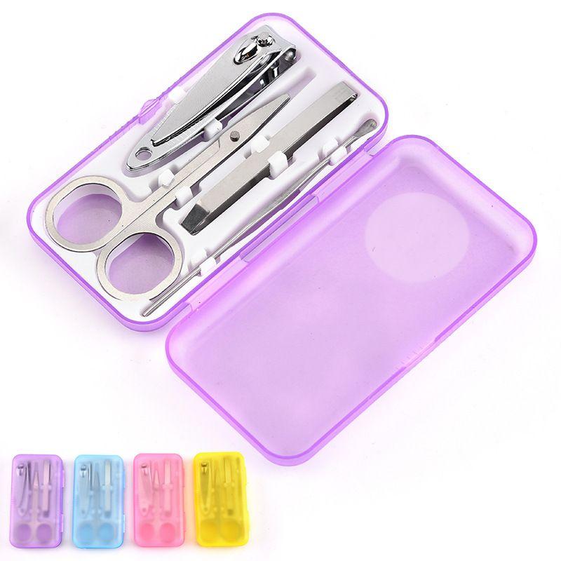 Fábrica cortadores de unha diretos set 4 peça definir mini-clippers conjunto de unhas 4 pedaço de plástico