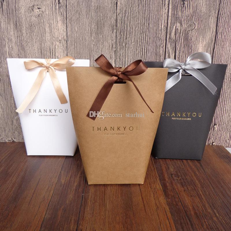 شكرا هدية التفاف هدية حقيبة حفل زفاف Birthiday الحسنات حقائب اليدوية البند حقيبة كاندي مجوهرات ربطة العنق التغليف طوي صندوق WX9-1622