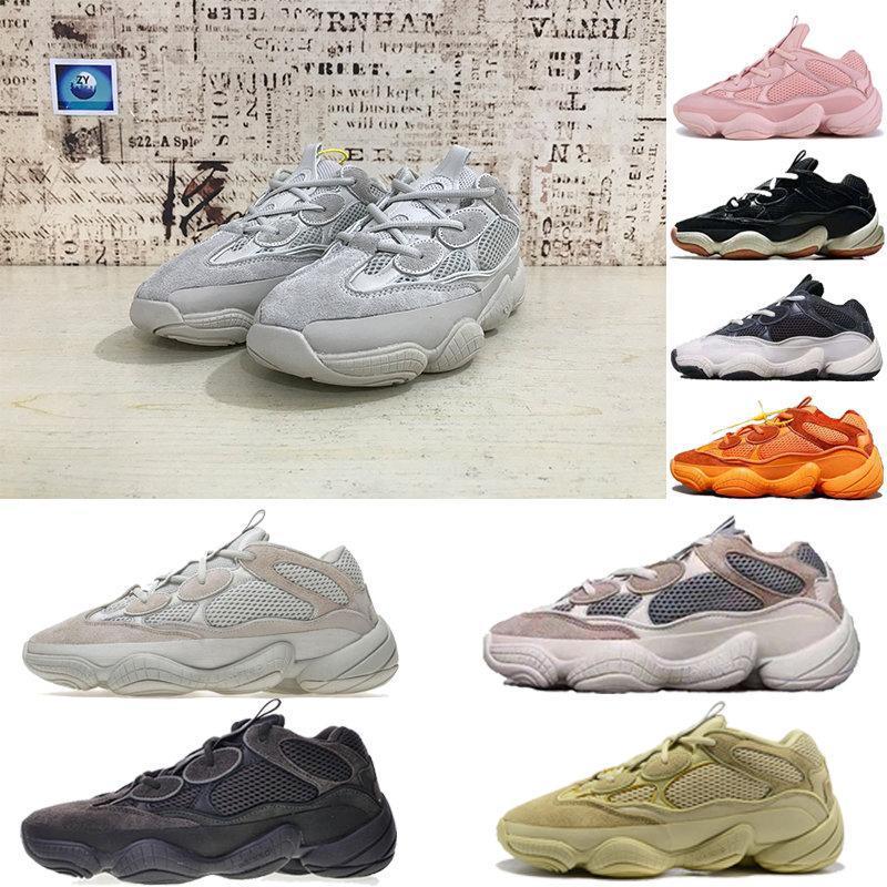 2020 мода волна Бегун 500 румяна пустыня крыса Супер Луна желтые кроссовки Kanye West Desig yezzys yezzy boost 350 v2