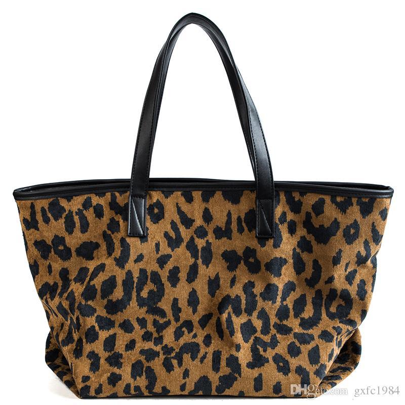 bolsa de ombro outono e inverno nova versão maré de moda coreana do saco simples selvagem tote cor leopardo bolsa hit