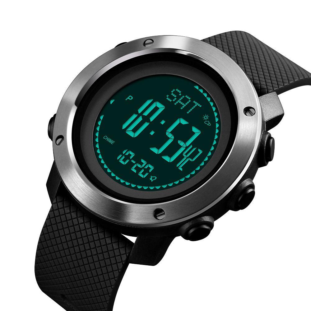 SKMEI Altimètre Baromètre Thermomètre Altitude Hommes Montres Numériques Sport Horloge Escalade Randonnée Montre-Bracelet Montre Homme 1418/1427