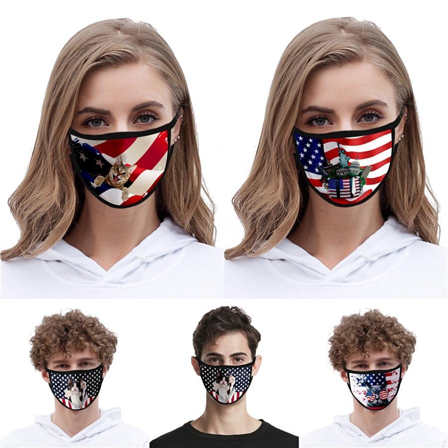 Em armazém Donald Trump Designer Luxo reutilizável lavável Pano de algodão Moda Rosto Mouth máscara mulher dos EUA homens unisex 17 estilos Fast Ship # QA444