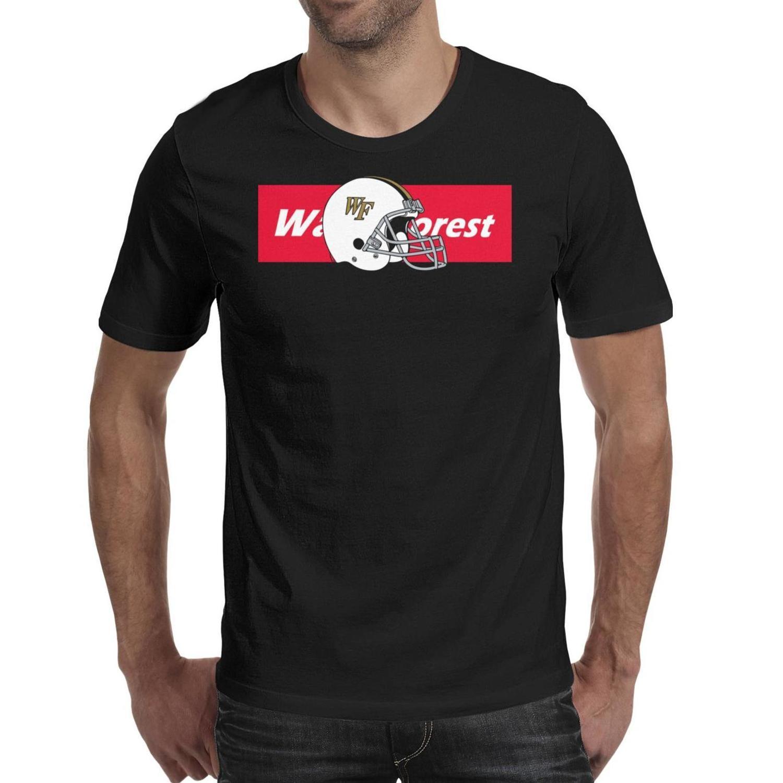 Мужской печать Wake Forest Demon диаконы футбол черной майка дизайн Высокие Сумасшедшие футболки Классического логотип Камуфляж флаг 3d эффект Серый