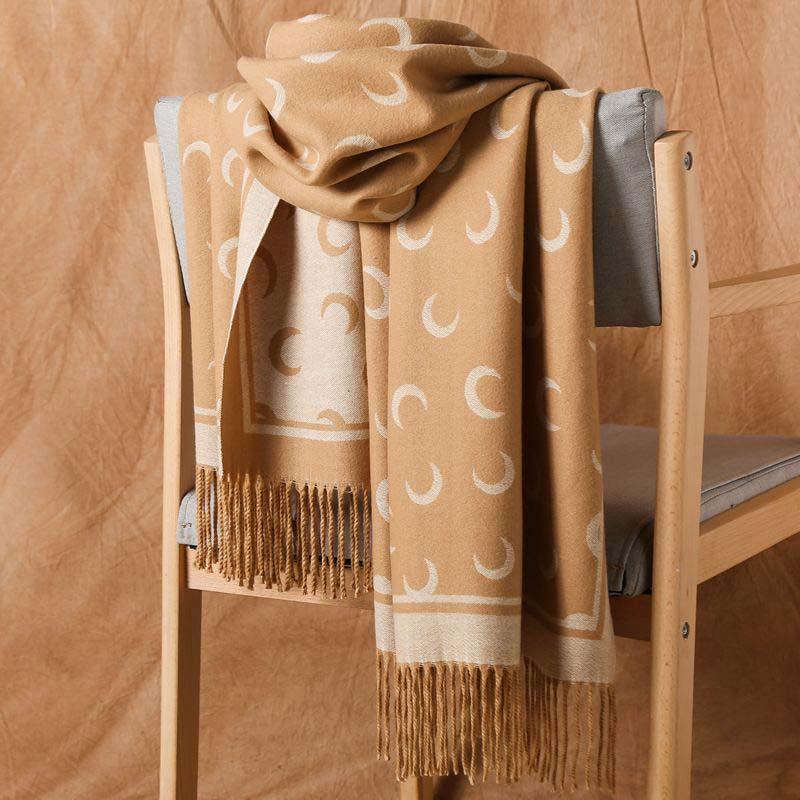 2019 di lusso di inverno del cachemire sciarpa di pashmina per le donne del progettista di marca calda della sciarpa di modo delle donne imitare lane del cachemire lungo dello scialle