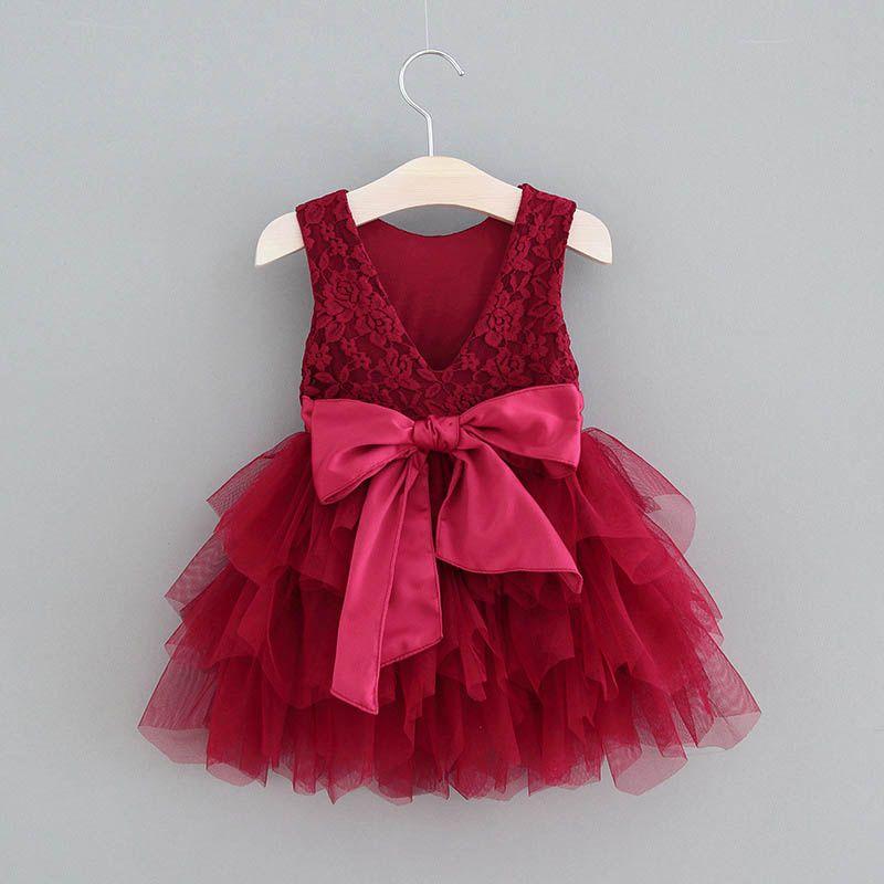 Robes de filles Sweet Summer dentelle Tutu filles fête de la mode robe de princesse robe de vêtements de créateurs robes enfants de mariage enfants vêtements filles B133