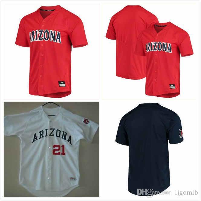 Custom Arizona Wildcats Baseball Blake Peyton Jersey 50 Randy Abshier 99 Tate Soderstrom 33 George Arias Jr 36 Nate Brown 15 Collins 21 S-3X