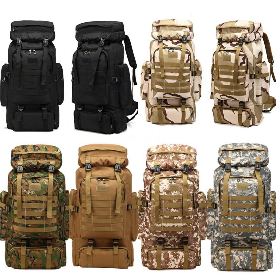 Militare di campeggio sport zaino esterno di grande capienza Army Fan tattico zaino trekking alpinismo Shoulder Bag Backpack # 68960