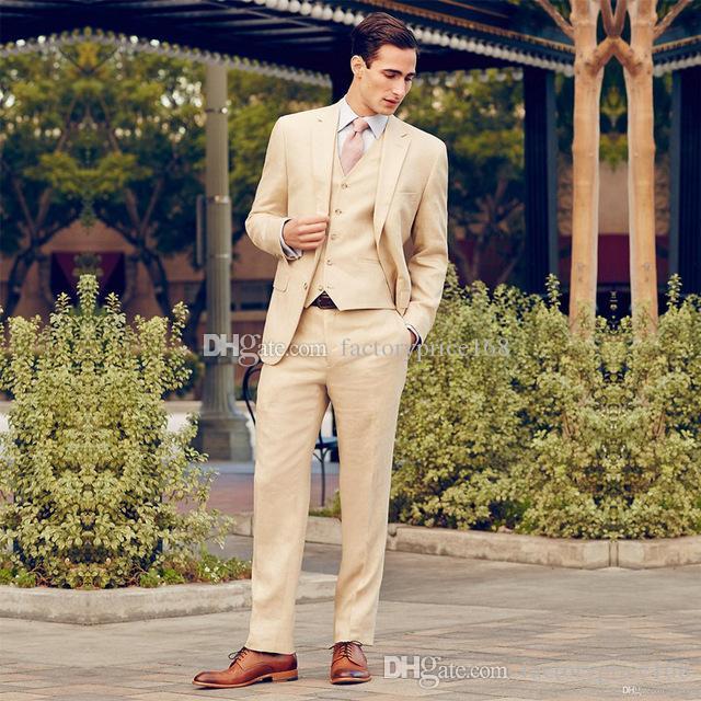 Moda Dois botões Groomsmen Notch lapela do noivo smoking Homens ternos de casamento / Prom / Jantar melhor homem Blazer (Jacket + Calças + Tie + Vest) AA255