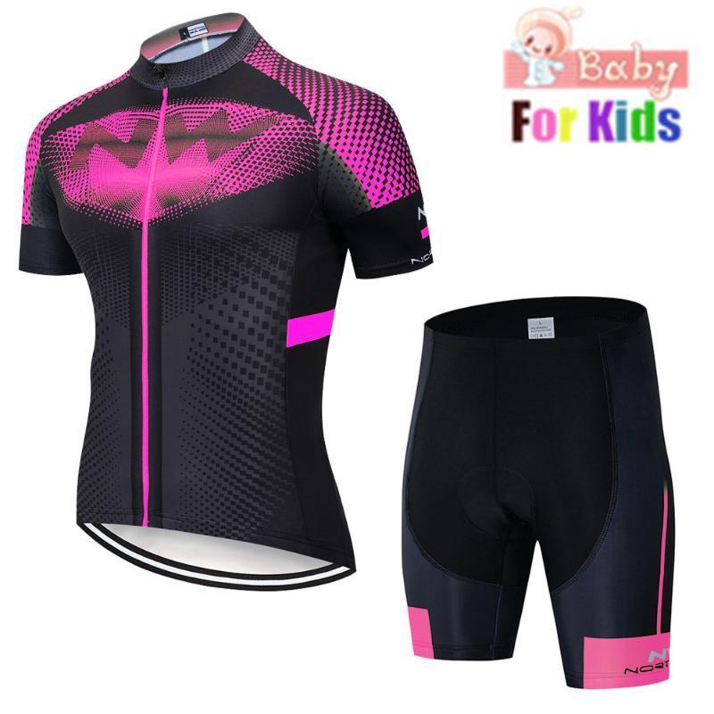 2020 yeni Çocuklar Bisiklet Jersey Seti Çocuk Bisiklet Giyim Yaz Bisiklet Kazağı Hızlı Kuru Bisiklet Suit Floresan etixx
