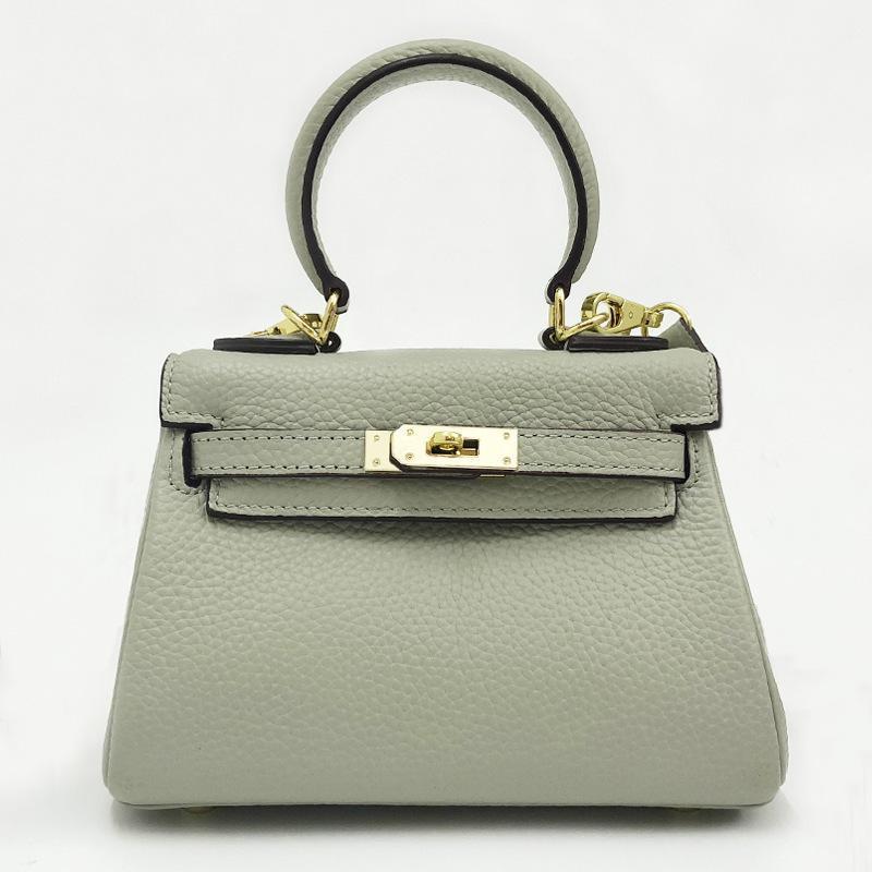 Charm2019 Grain Litchi Hauptschichtrindleder Kylie Paket Fest Farbe echtes Leder Trend einzelner Schulter-Span Ma'am tragbare Tasche