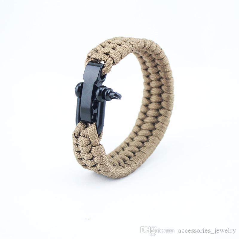 Classic Design High Quality Handmade Paracord Bracelet Mens and Womens Outdoor Sports Bracelet with Steel Buckle