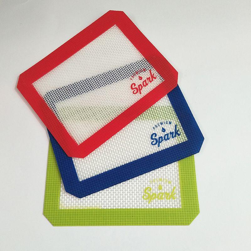 Alta qualità FDA Dab Strumento di resistenza al calore antiaderente Silicone Baking Mat antiscivolo Mat Dab cera estratti di olio Silicone Dab Mat