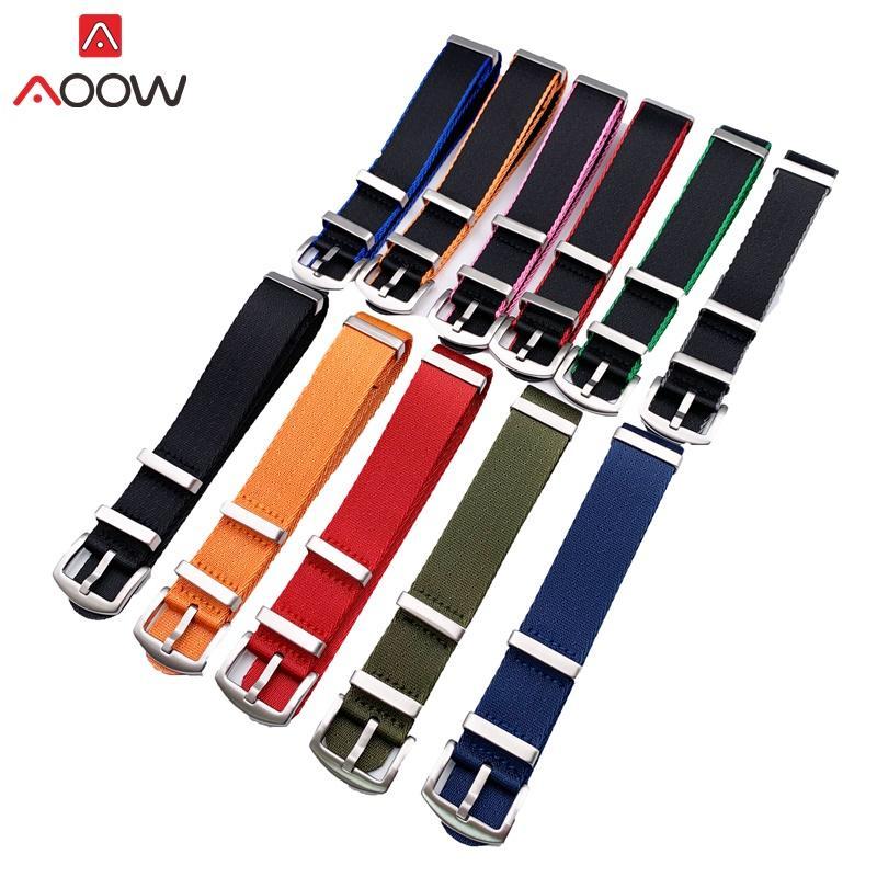 AOOW Nylon Watchband NATO ZULU Strap 20 milímetros 22 milímetros pulseira genérico Cintos de substituição Men Women Watch Acessórios de Alta Qualidade