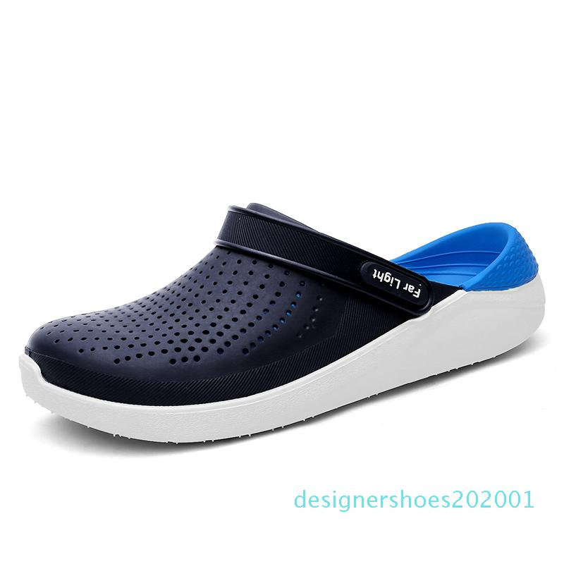 Grande formato 40-45 Scarpe Uomo estate non sandali di slittamento 2019 Mens pantofole illuminato appartamenti casuali Snaekers Sandali 2019 nuovo d01