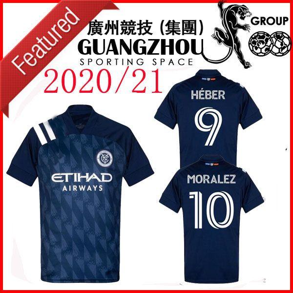 2020 NYCFC Fútbol INICIO Mitriţă 28 New York City LEJOS FCHEBER 9 Moralez 10 parques 55 20 21 camiseta de fútbol CAMISAS