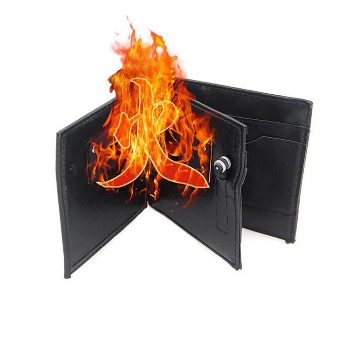 Magic Trick Flame Fire Portafoglio Mago Trick Wallet Stage Street Magic Prop Trick Performance Scherzi Scherzi Novità Giocattoli magici