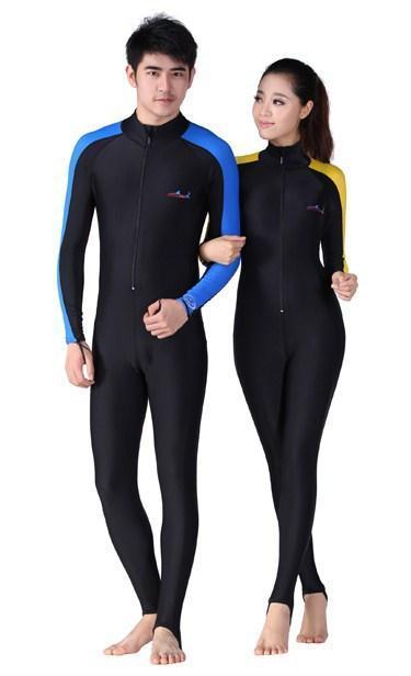 Maillots de bain Stinger Suit Protection UV Diveskins Jumpsuit pour les hommes et les femmes Marque de plongée Voile