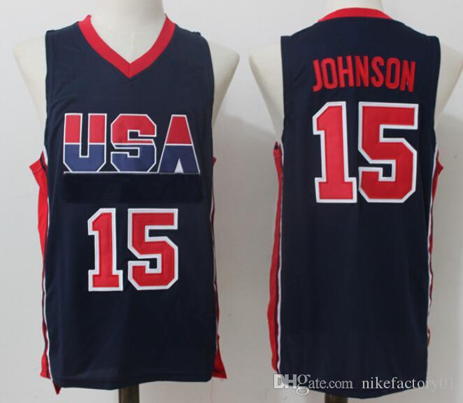 새로운 1992 미국 팀 9 # 마이클 JD (15 개) # 존슨 미국 농구 유니폼 1996 팀 샤킬 오닐 # 4 찰스 바클리 6 페니 하더웨이
