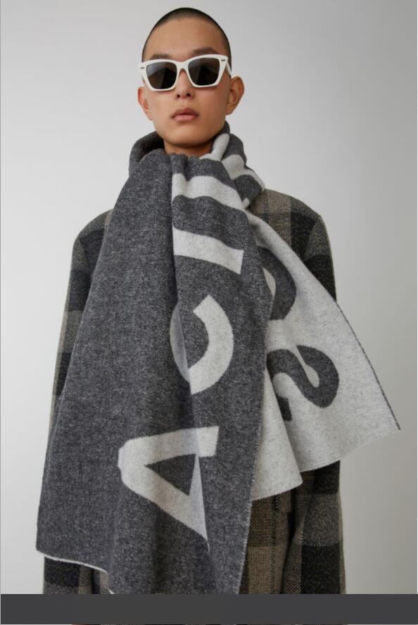 Новый шарф на осень и зима в Америке в 2019 Внешнеторговая Pure Color Письмо Логотип шарфов кашемира-как пара шарф шаль