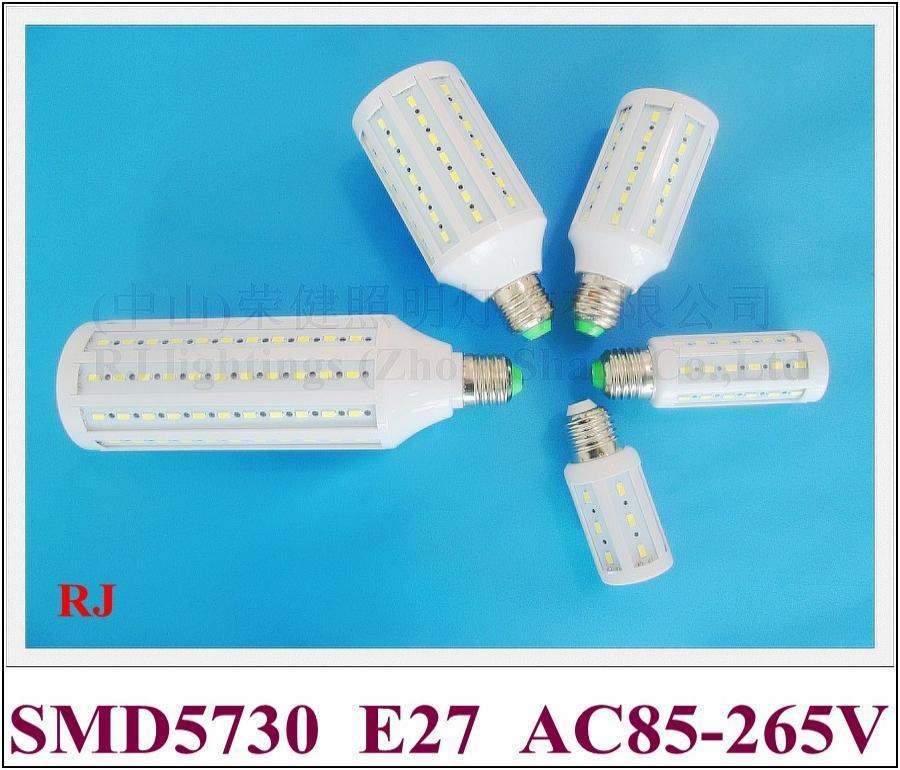 E27 LED corn bulb lamp light 5W to 30W SMD 5730 AC85-265V 360 degree lighting angle high bright factory price