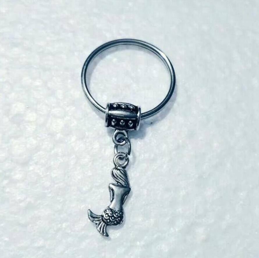 Mermaid Fischschuppe Schlüsselanhänger Mermaid Schlüsselanhänger für Beutel-Halter-Charm-Anhänger Auto-Schlüsselanhänger Schlüsselanhänger Frauen Männer 855
