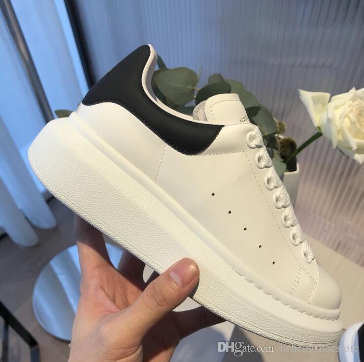 Nouvelle saison chaude Chaussures Designer Luxe Femmes Chaussures Hommes cuir lacées extra-grande plateforme unique Chaussures Blanc Noir Chaussures Casual avec la boîte