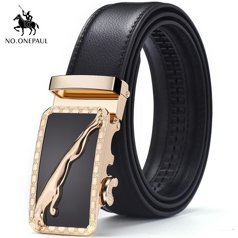 NO.ONEPAUL Hommes formel usure à la mode usure des jeunes de simple ceinture de mode d'affaires des jeans préférés avec ceinture nouvelle boucle automatique de conception