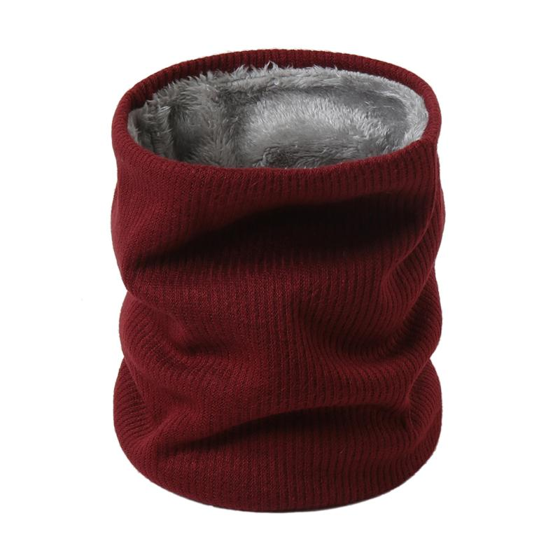 New Winter Scarf For Women Neck Rings Men's Mask Knitted Cashmere-like Soft Thick Warm Scarves High Elasticity