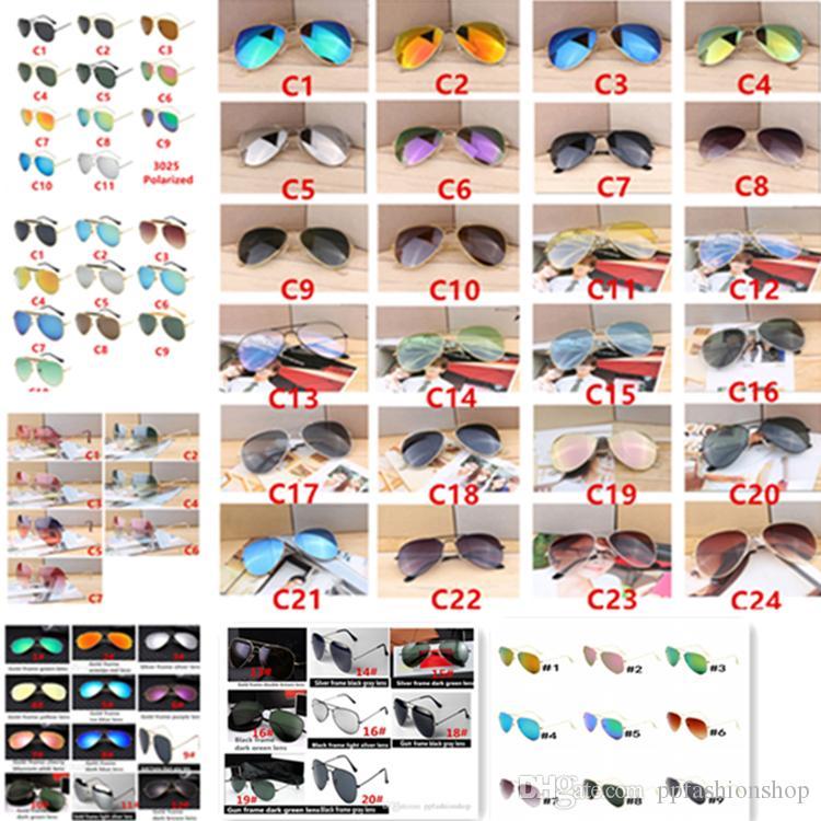 Hot Designer Brand New Classic Pilot Sonnenbrille Radfahren Sonnenbrille Für Männer Und Frauen Mode Blenden Farbe Spiegel