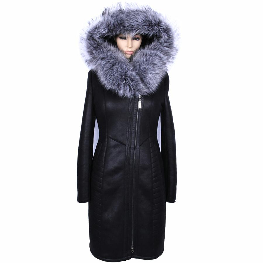 مصنع العرض مباشرة شتاء طويل فو الفراء معطف النساء حجم كبير فضة الأزياء الاصطناعي الفراء طوق سميك القطيفة سليم مثير