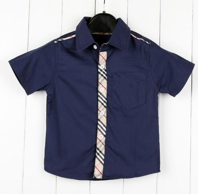 2020 Марка теги новых мальчиков с короткими рукавами рубашки тройника верхних частей детей одежда детей отворот футболки Мальчики девочки 2-6 года рубашки Бесплатная доставка