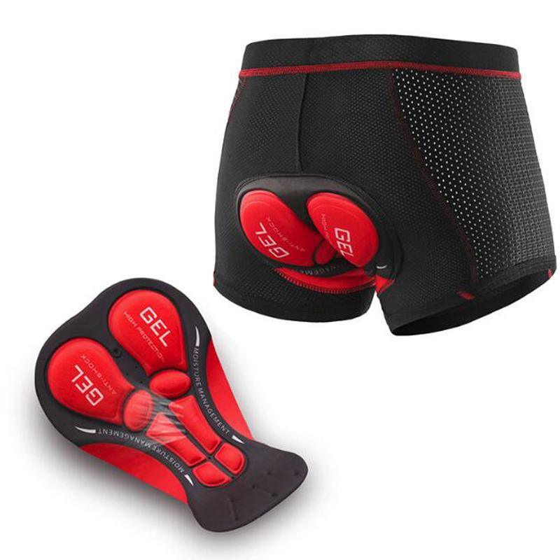2020 Mise à niveau Sous Pro Cycling 5D Gel Pad VTT Short VTT antichocs Vélo de route Underpants Descente Shorts