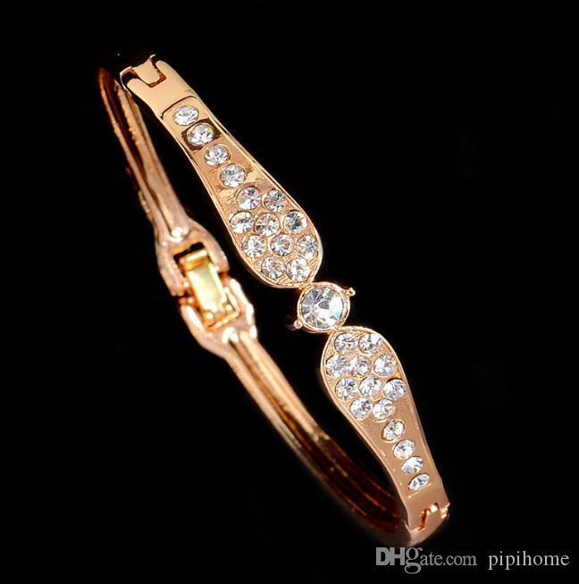 Joyería de la boda nuevo al por mayor de los brazaletes de las pulseras del encanto de cristal Dubai y brazaletes para la Mujer