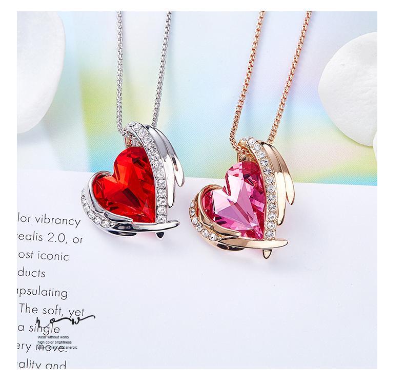 Nuovo arrivo 925 gioielli in argento Sterling austriaco Crystal Crown Wedding Pendente viola / argento Water Wave Necklace3458 #