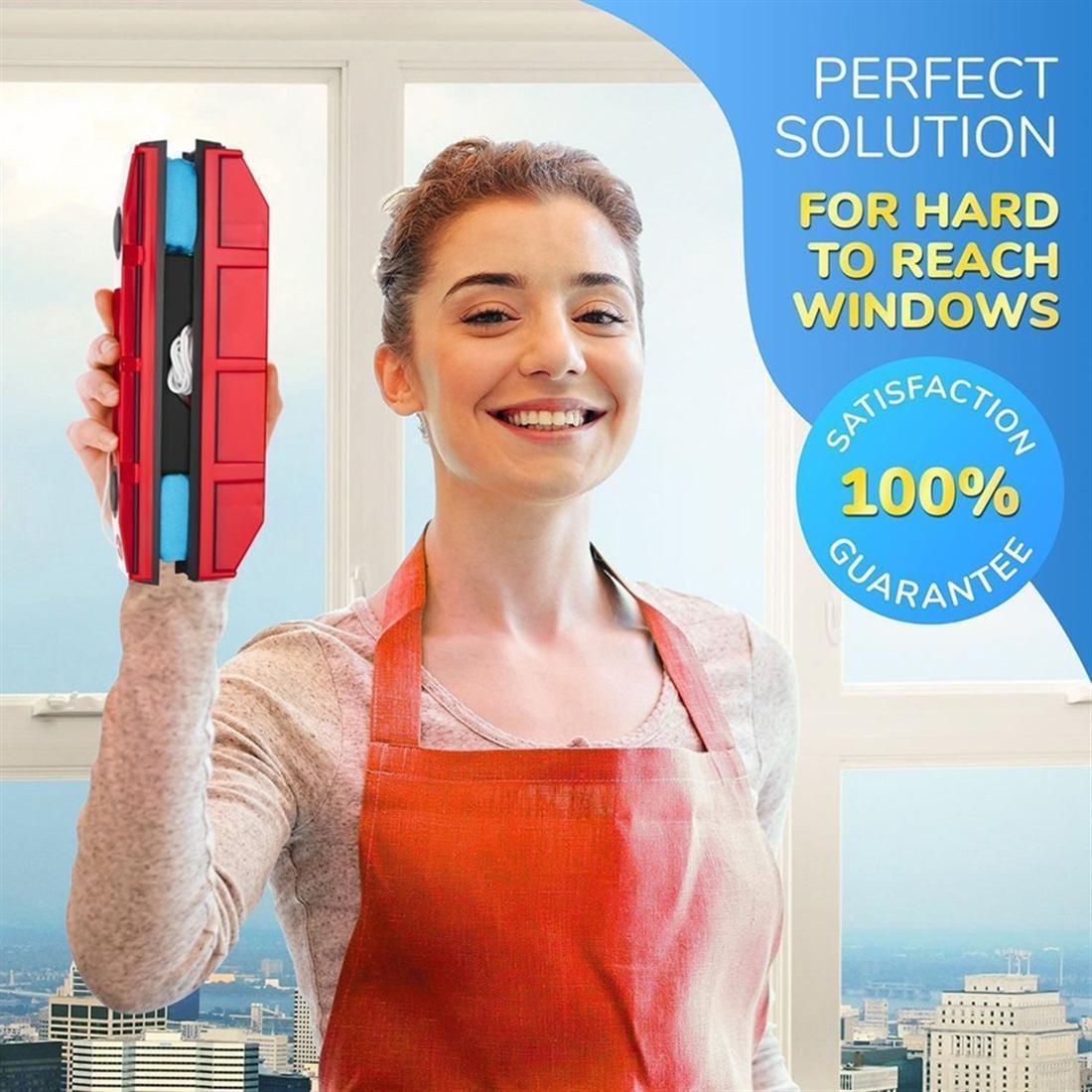 فرش تنظيف ممسحة النوافذ المغناطيسية أدوات للزجاج المزجج الأحادي مناسبة للأبواب المنزلقة الزجاجيةالنوافذ الزجاجية أو أي زجاج