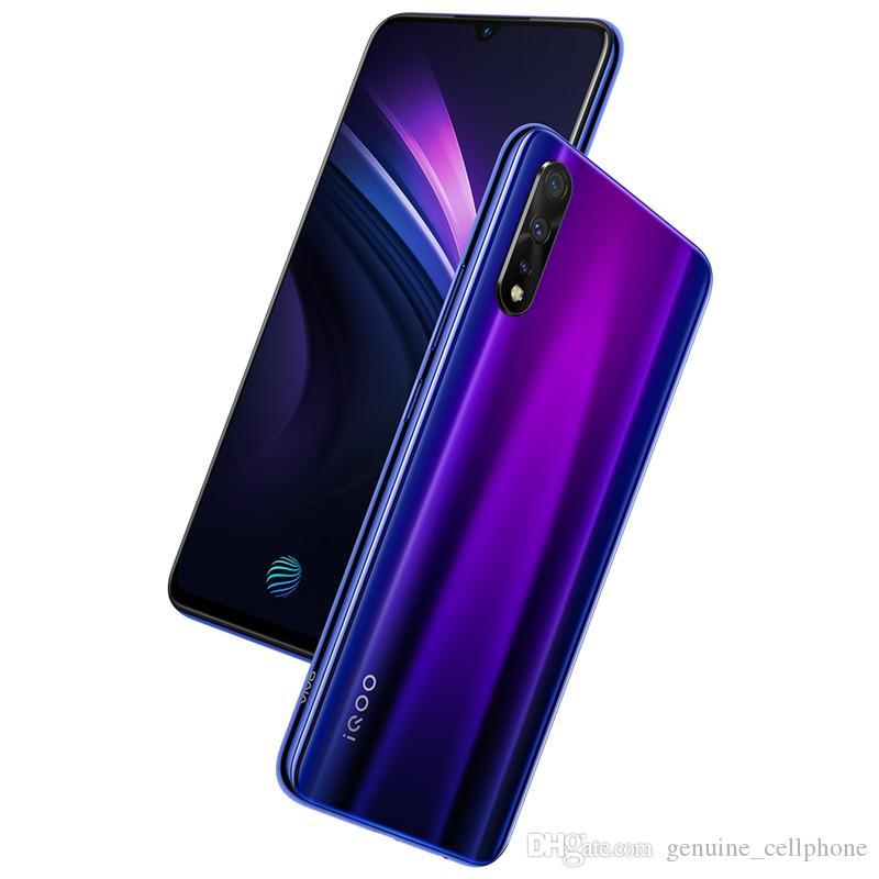 "Vivo d'origine iQOO Neo 4G LTE Cell Phone 6 Go RAM 64 Go 128 Go ROM Snapdragon 845 Octa base Android 6.38"" 12MP ID d'empreintes digitales Visage Téléphone mobile"