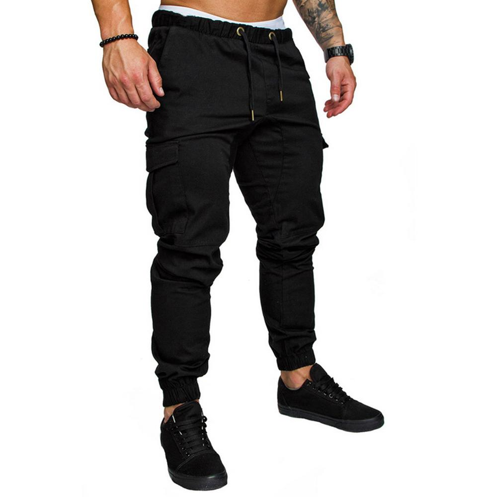 2019 New Casual Loose Pants Men Sporting Joggers Trousers Black Fitness Gym Clothing Pockets Leisure Sweatpants Plus Size 4XL