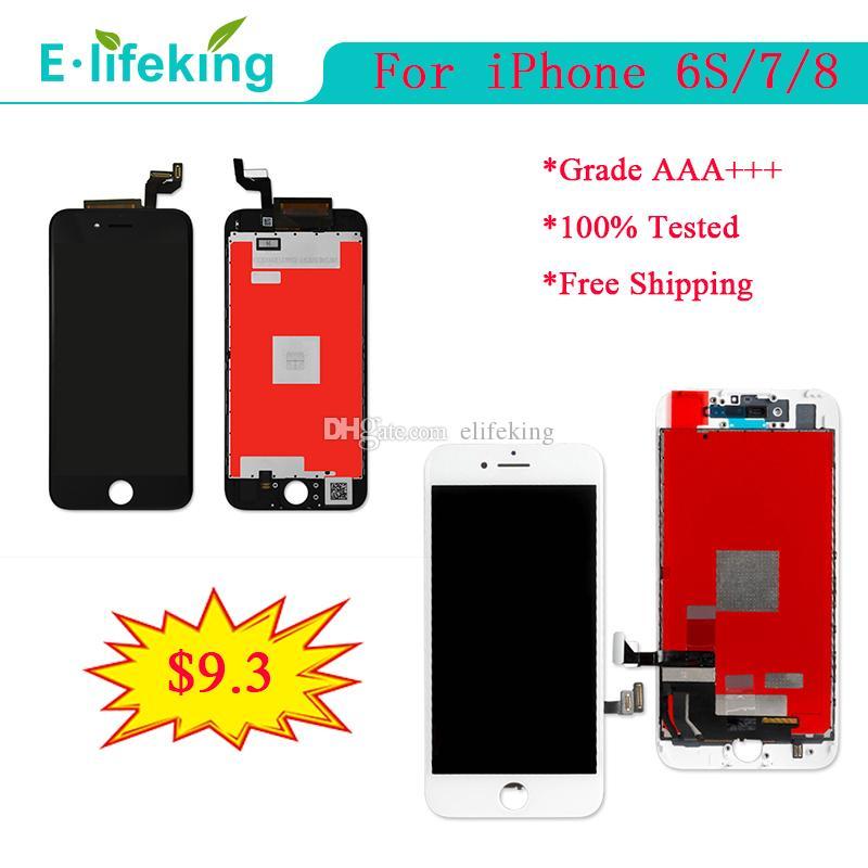 Para iPhone 6S 7 8 Pantalla LCD Pantalla táctil Ensamblaje de digitalizador para iPhone 7 Reemplazo de LCD 4.7 pulgadas 100% Probado bien