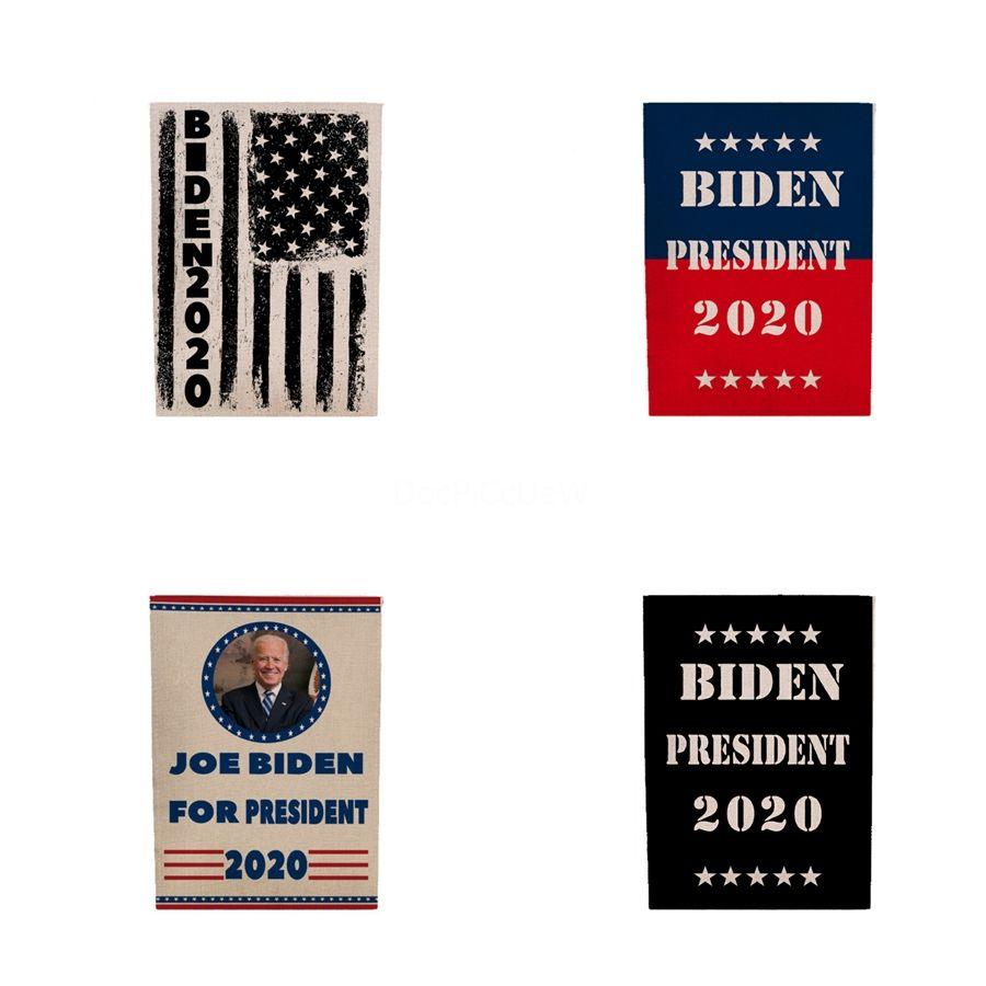 2020 US Election de transfert de chaleur Drapeaux Biden Bannière Bannière Jardin Biden 45 * 4 30Cm Styles Wx9-1797 # 683