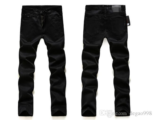 Compre 2018 Nuevos Pantalones Vaqueros Para Hombres De Alta Tela Elastica De Color Lavados Pantalones Coreanos Negro Puro A 28 09 Del Degao998 Dhgate Com