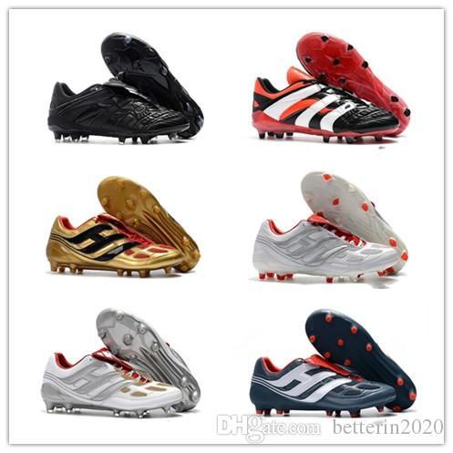 Klasikler Predator Hassas Hızlandırıcı Elektrik FG DB AG V 5 Beckham 1998 98 Erkek Futbol Ayakkabı Kramponlar Futbol Boots damla nakliye