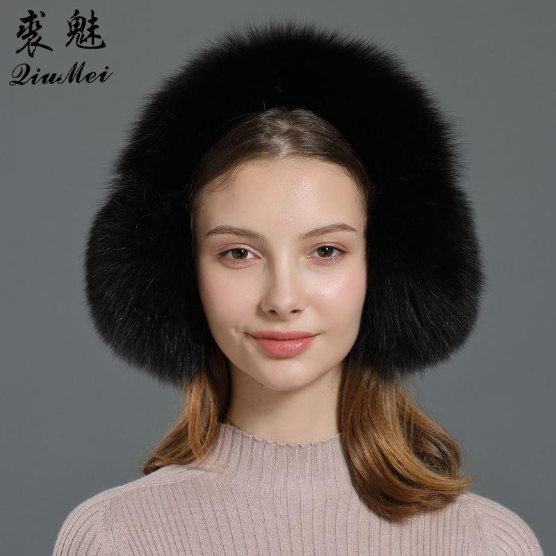 Новая зимняя Earmuffs Fur Real Женщины Теплый подарков Girlfriend 2019 Женский Пушистый Природных Fur наушники Ear Warmer