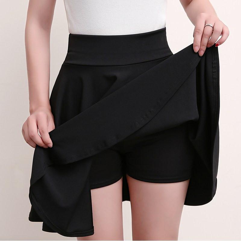 Seksi Mini Tutu Astar Yaz Katı Renk Etek Artı boyutu 4XL A-line Saia Kore Tutu Etek Balo Bayan Bahar Skirt3965