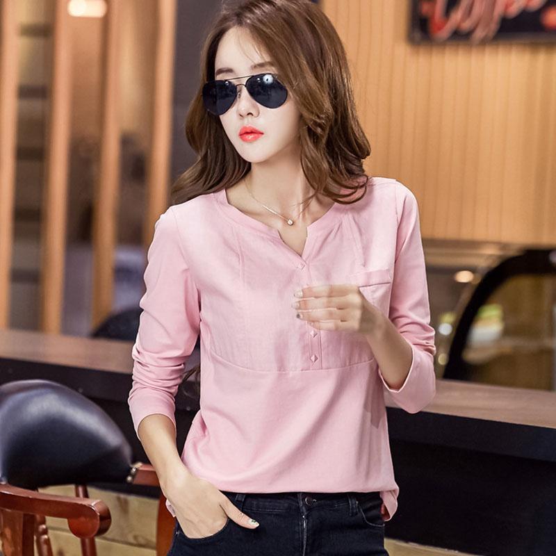 long sleeve shirt chemise femme plus size womens tops and blouses cotton women blouse white blusas mujer de moda 2019